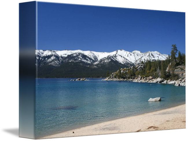 Transparent photographs lake. Tahoe photography art by