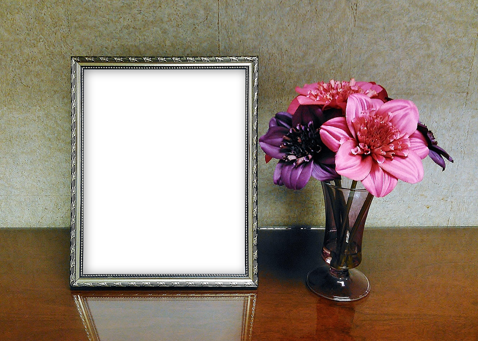 Transparent photography blank. Free photo mockup picture