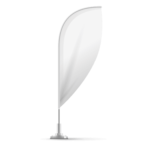 Transparent photography blank. Feather convex flag png