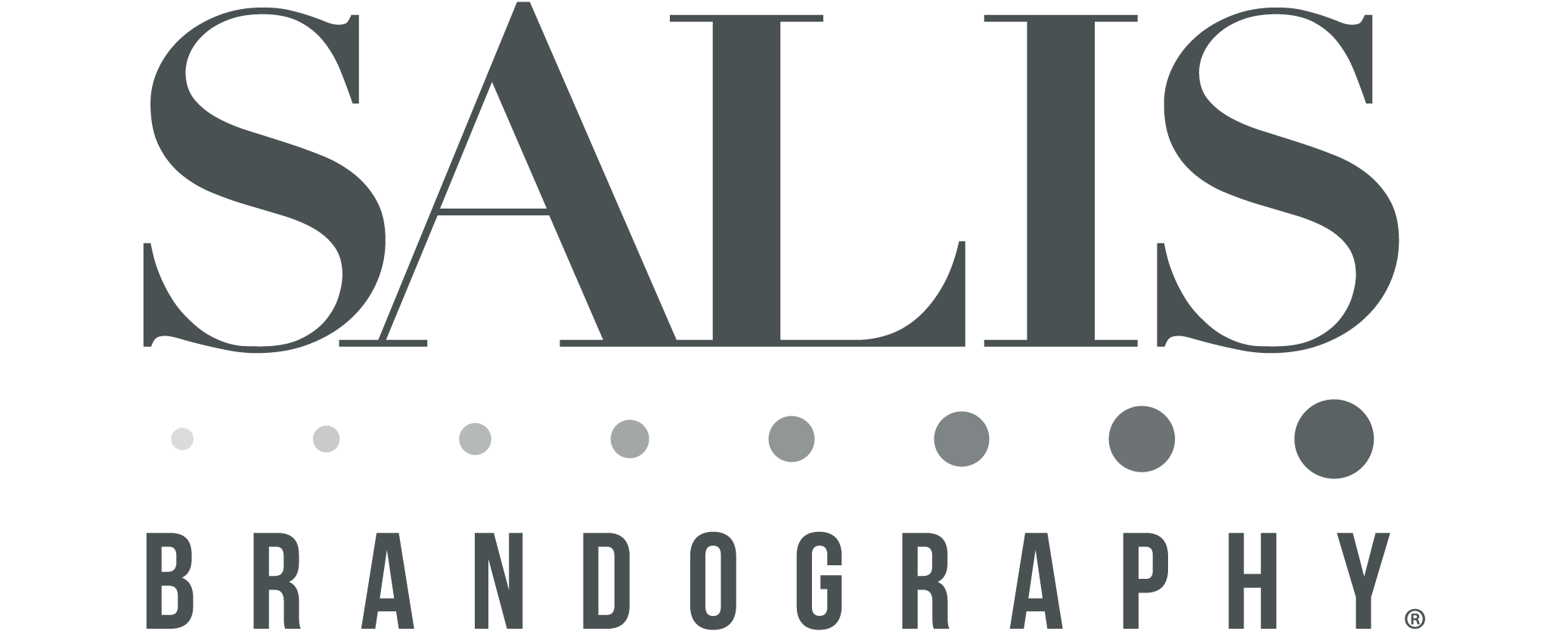 Transparent photography impactful. About salis brandography logo