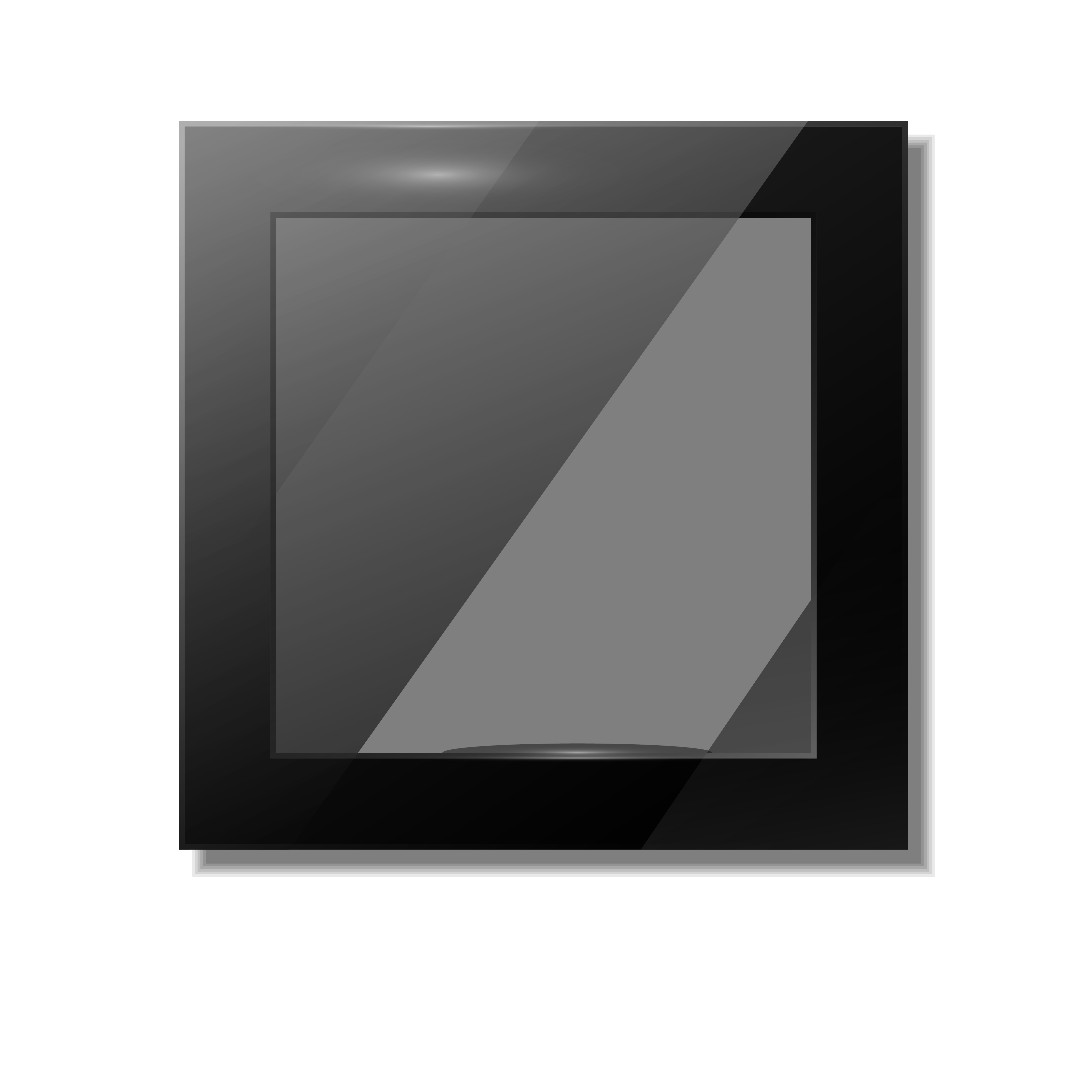 Transparent photography mirror. Black and white logo