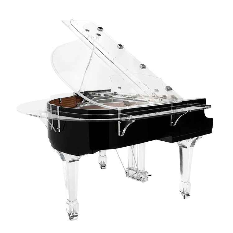 Transparent pianos bed. Aire acrylic clear baby
