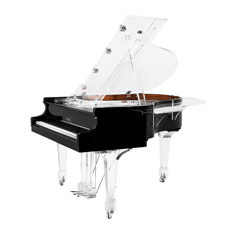Transparent pianos. Aire acrylic clear baby