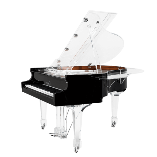Transparent pianos acrylic. Glass for sale lucid