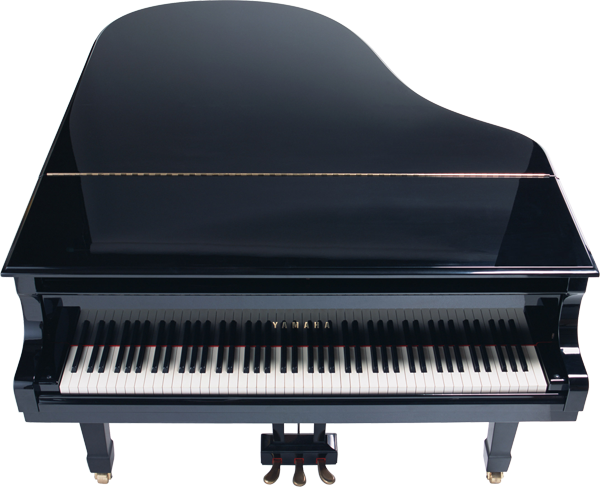 Transparent pianos cool. Full piano black clipart
