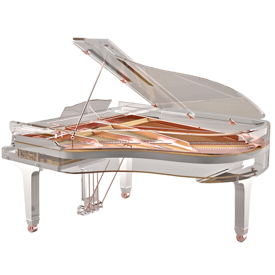 Transparent pianos customized. Acrylic glass for sale
