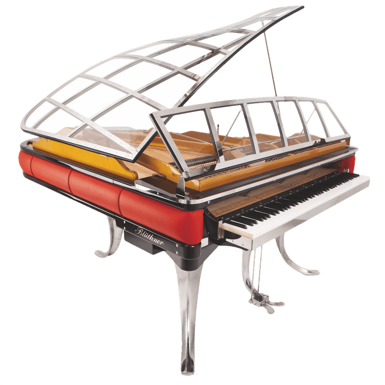 Transparent pianos crystal. Bluthner ph piano for