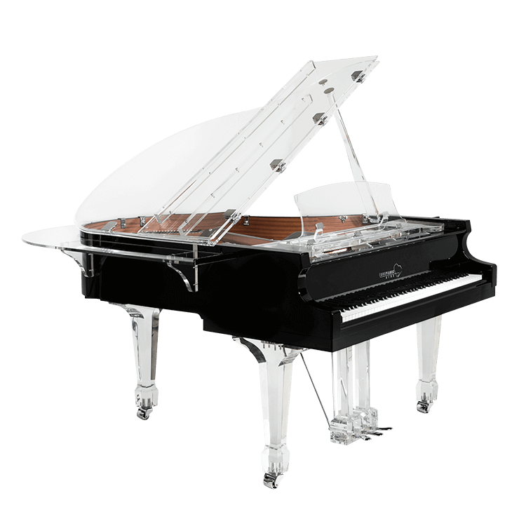 Transparent pianos crystal. Aire acrylic clear baby