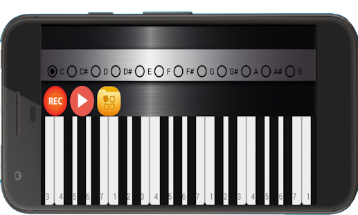 Piano real learning keyboard. Transparent pianos odd vector library library
