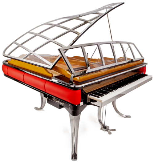 Oddest looking most. Transparent pianos odd picture royalty free stock