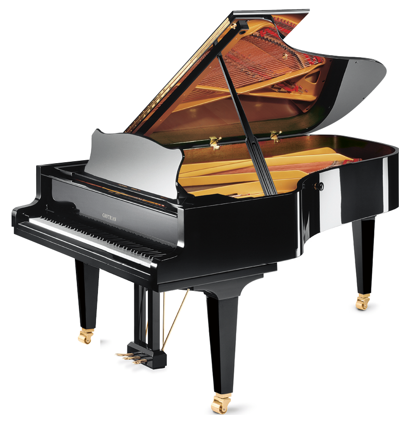 Transparent pianos. Review grotrian charis grand