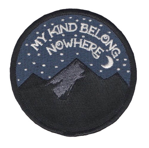 Embroidered patches aesthetic transparents