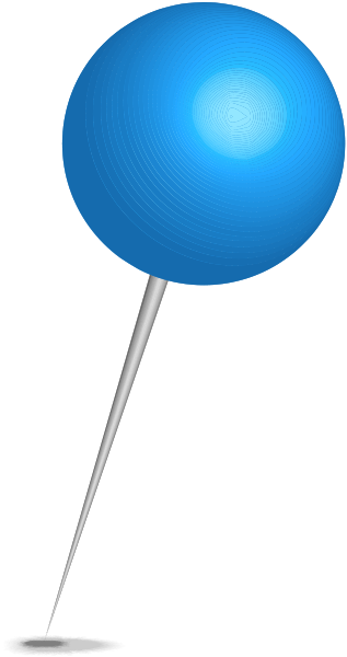 Transparent pin blue. Location map sphere free