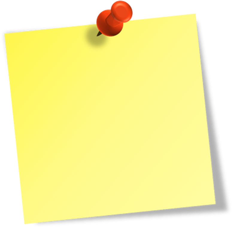Transparent pin paper. Download objects with png