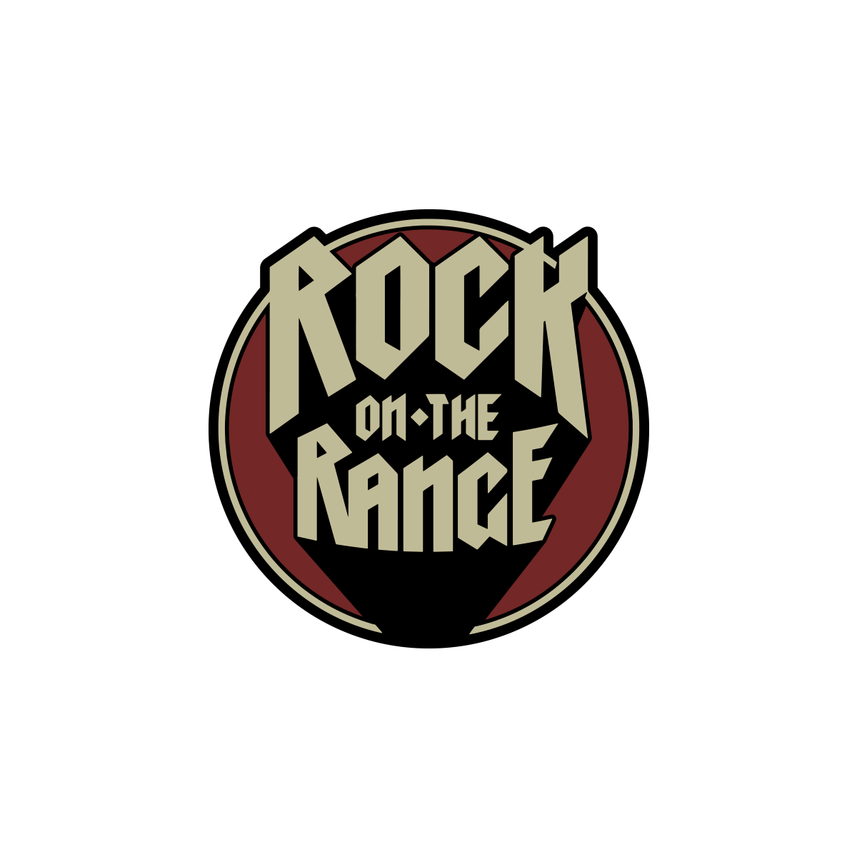 Rock on the range. Transparent pin shadow jpg library library