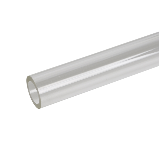 Transparent piping acrylic. Extruded clear tube