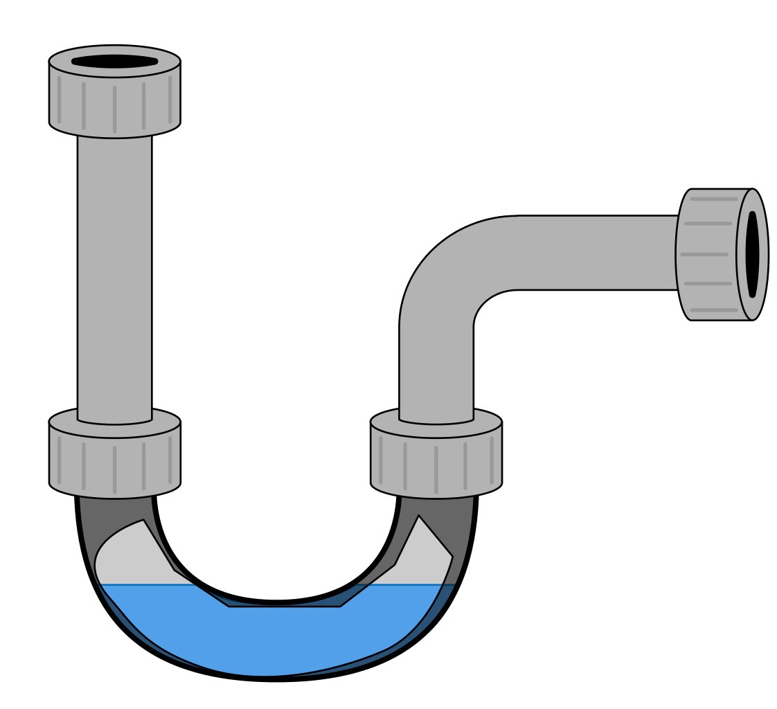 Vector pipes sewage pipe. File drain trap svg