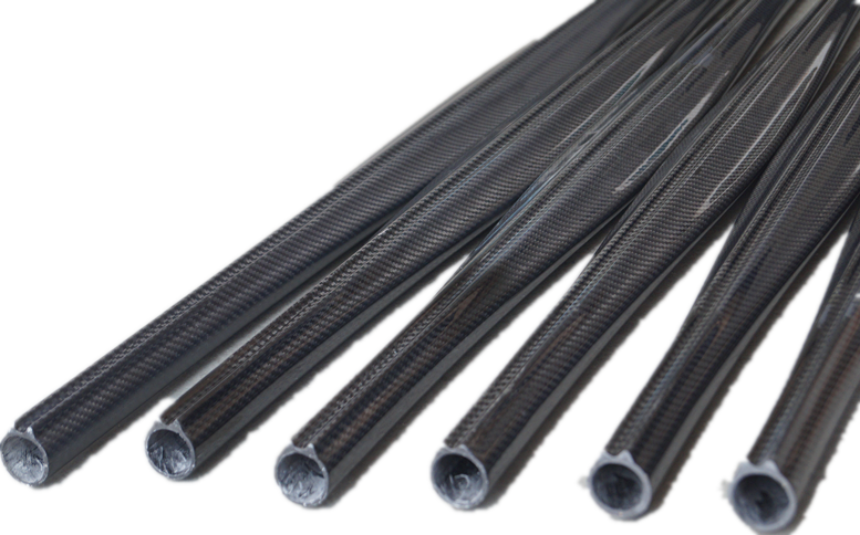 Transparent pipes fiber. Spearfishing carbon tube high