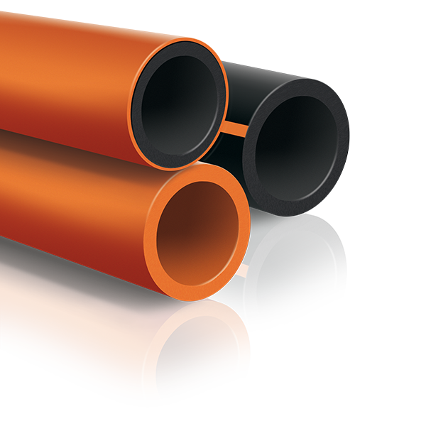 Transparent pipes gas. Hdpe pipe reno idrotherm
