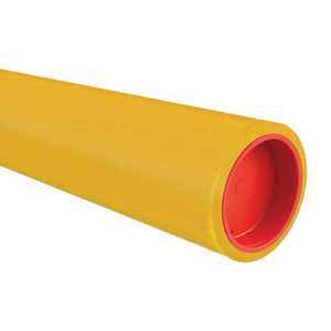 Transparent pipes gas. Pe pipe for