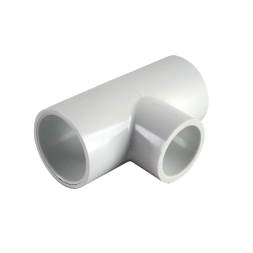 Transparent pipes gas. Reducing tee structure pipe