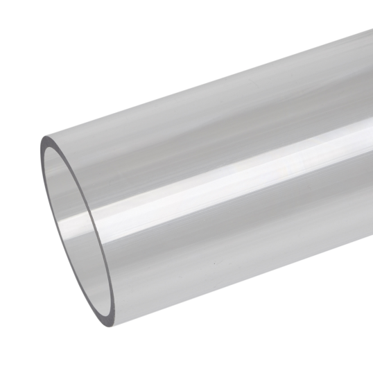 Transparent piping pph. Polycarbonate extruded clear tube