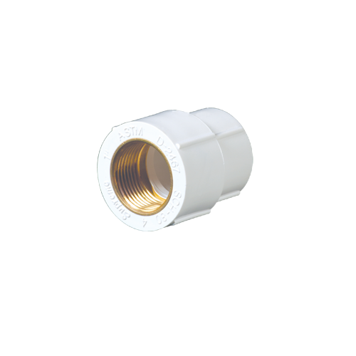 Transparent piping threaded. Female adapter f t