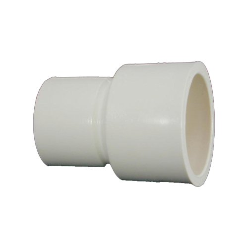 Transparent piping threaded. Pvc pipe fitting cpvc