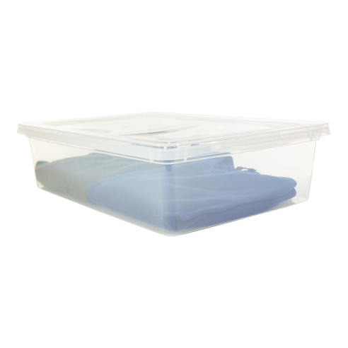 Tiny clip clear plastic. Storage boxes bins chests