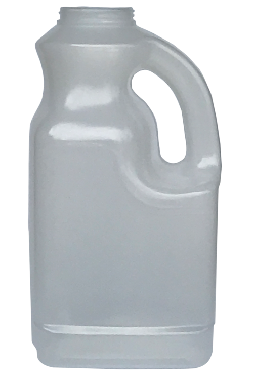 Transparent plastics jug. Handled salsa br gallon