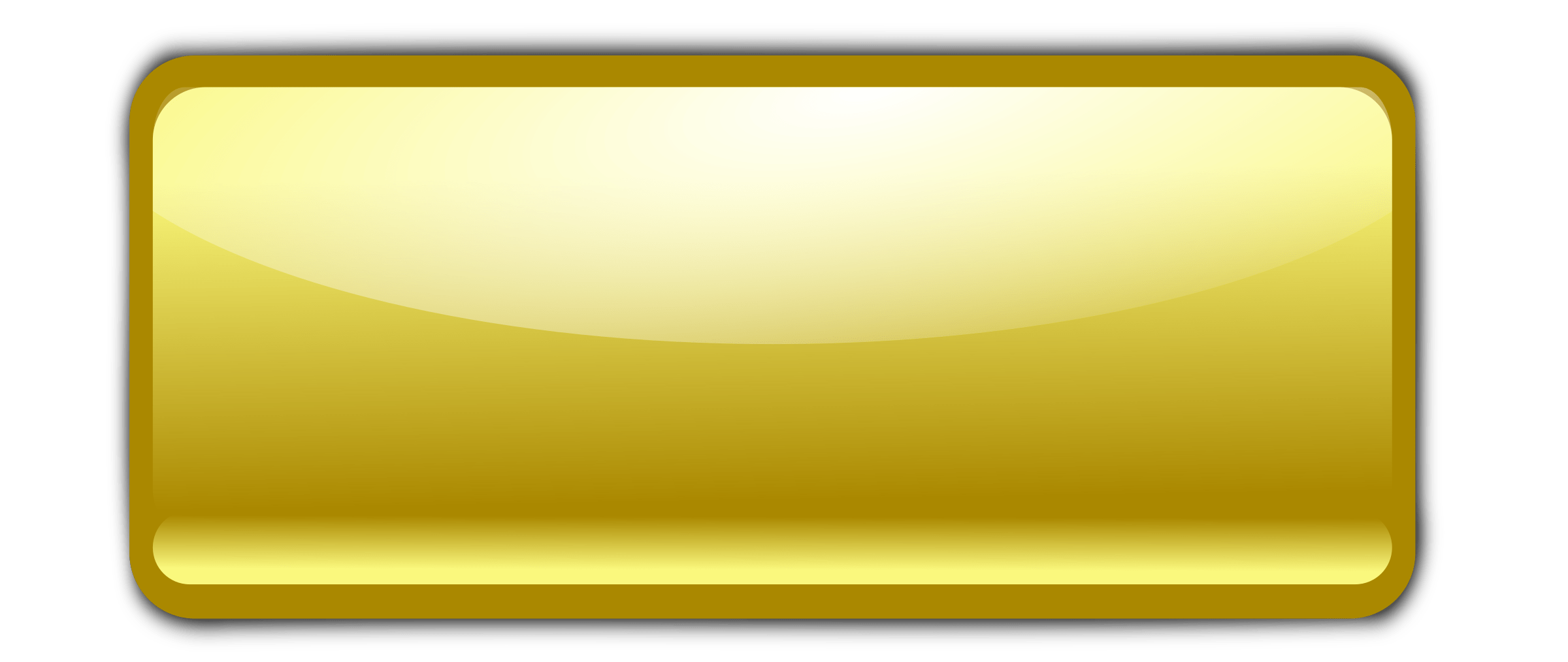 Gold rectangle png. Empty buttons transparent images