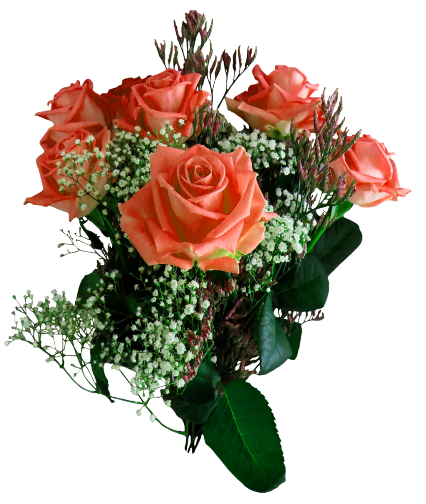Transparent png bouquet of flowers. Free rose flower image