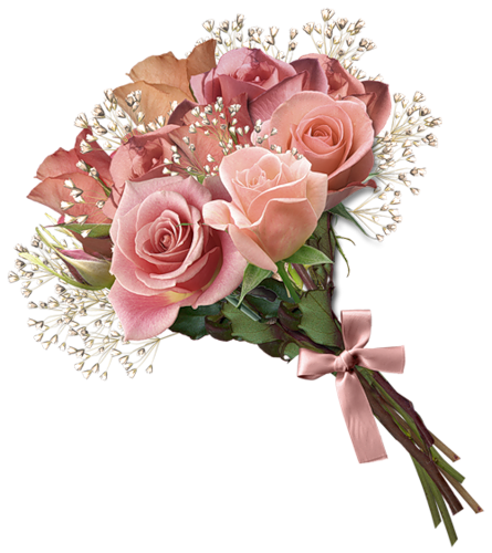 Transparent png bouquet of flowers. Download free image with
