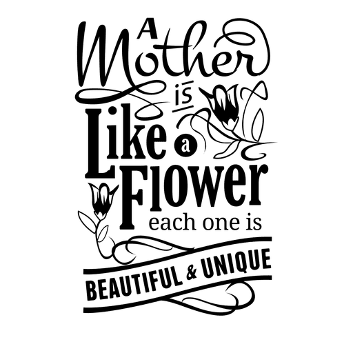 Quotes vector black and white. Mothers day lovely quote