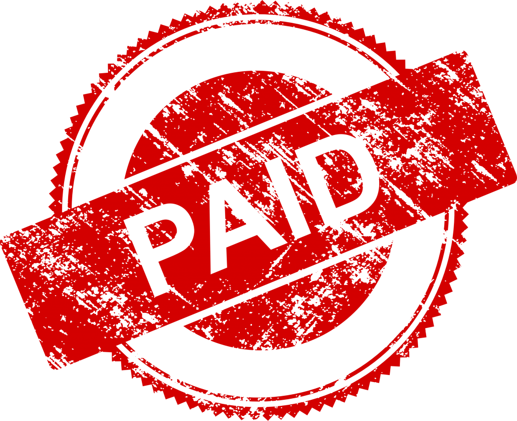 Paid stamp image png. Vector transparent svg