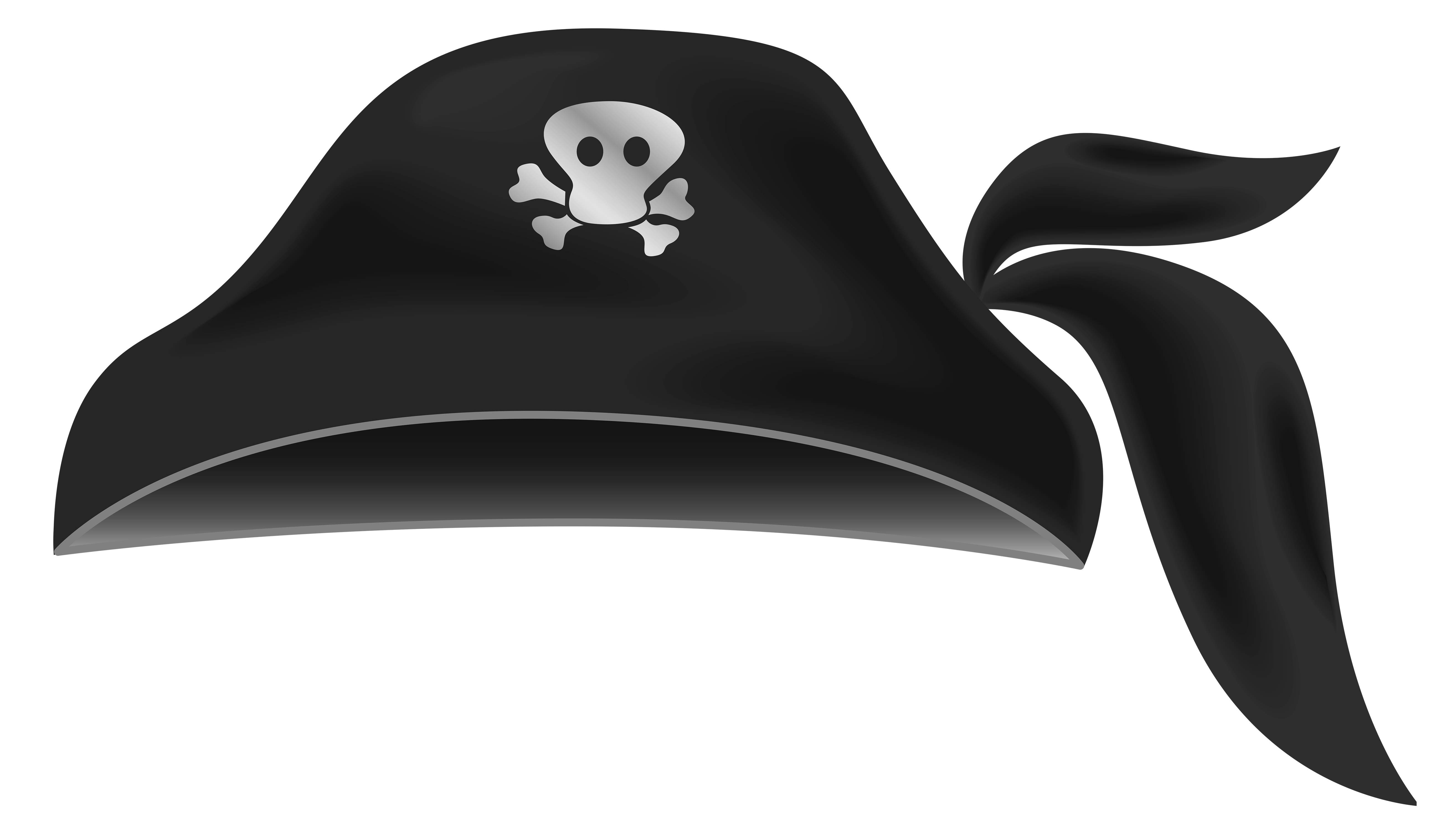 Black clipart gallery yopriceville. Eyepatch transparent pirate hat clipart black and white stock