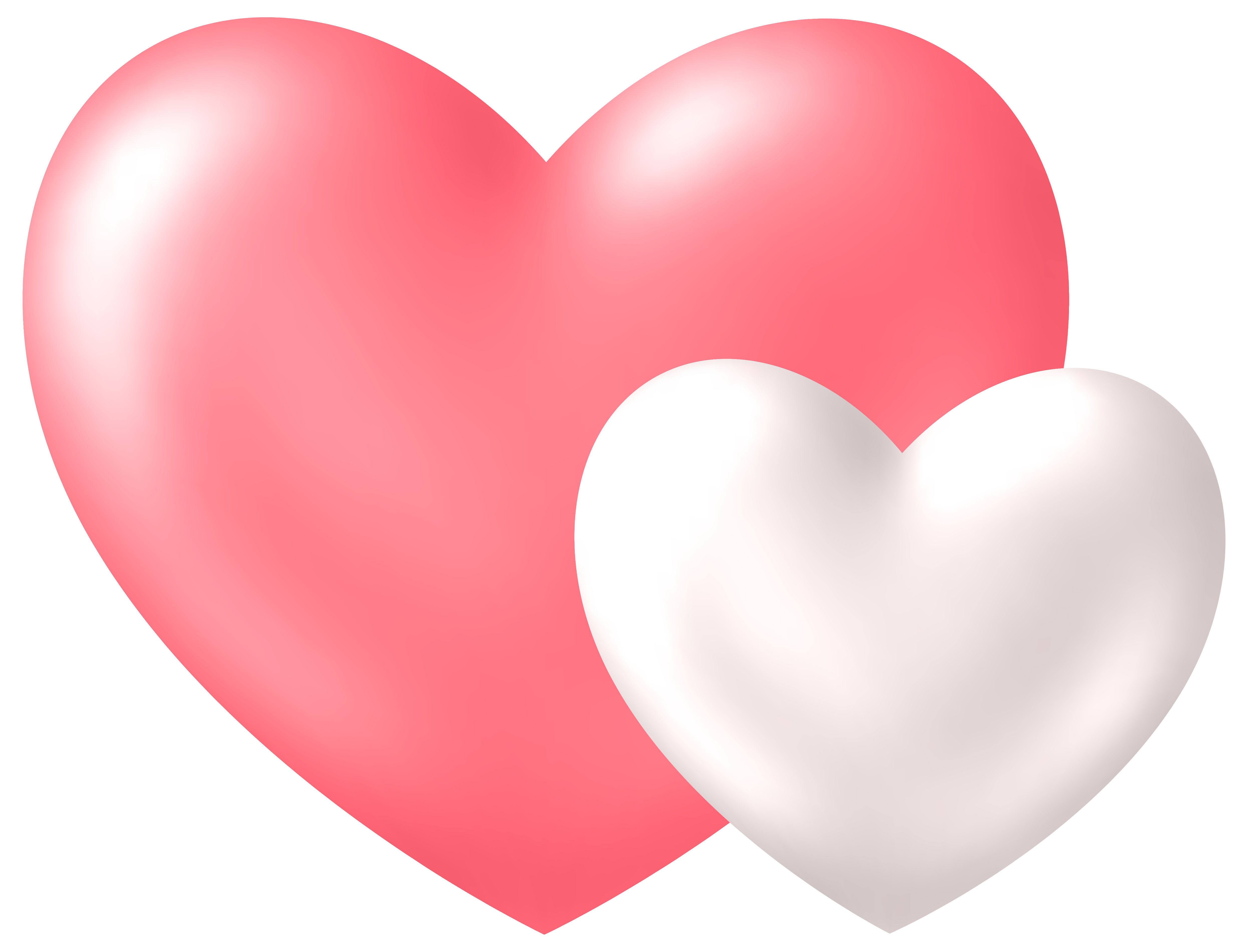 Two hearts png. Transparent clip art image