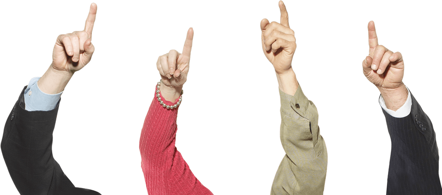 Transparent png man arms up. Fingers pointing stickpng