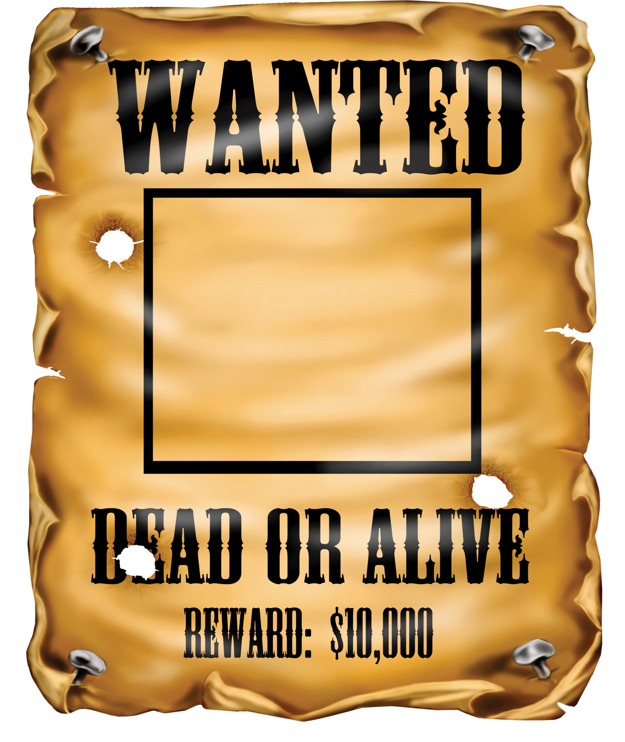 Transparent poster most wanted. Clipart