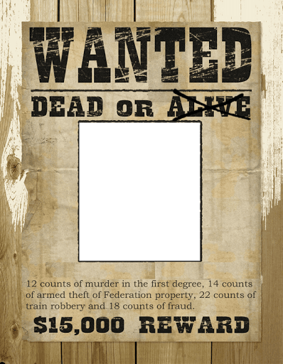 Transparent poster most wanted. Photo frame for android