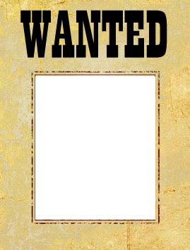 Wanted transparent template. Poster free most printable