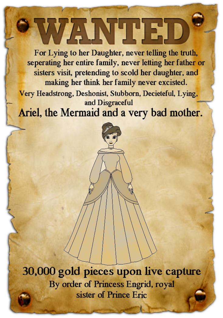 Wanted transparent poster. Ariel by conthauberger on