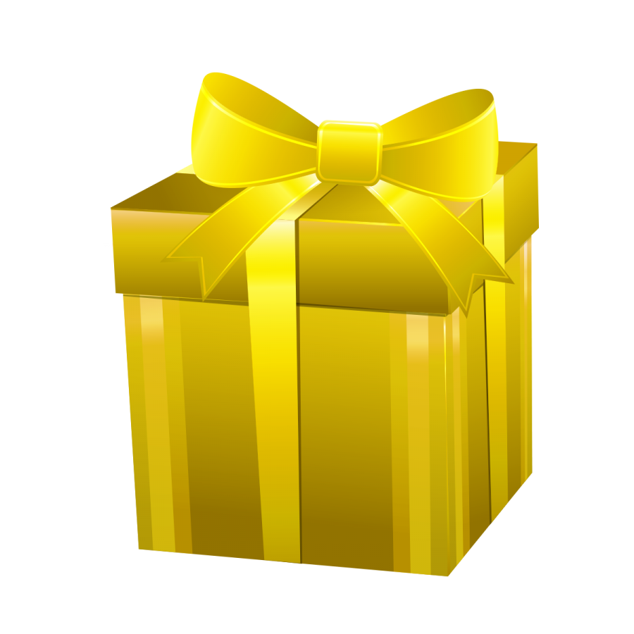Vector present transparent background. Gift box png image