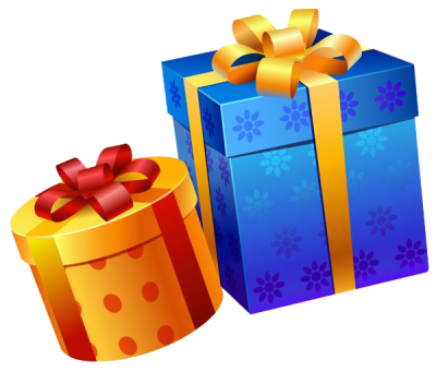 Transparent present gift. Download birthday free png