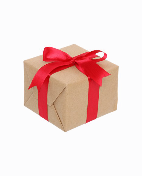 Vector present gift packaging. Transparent image clipart psd