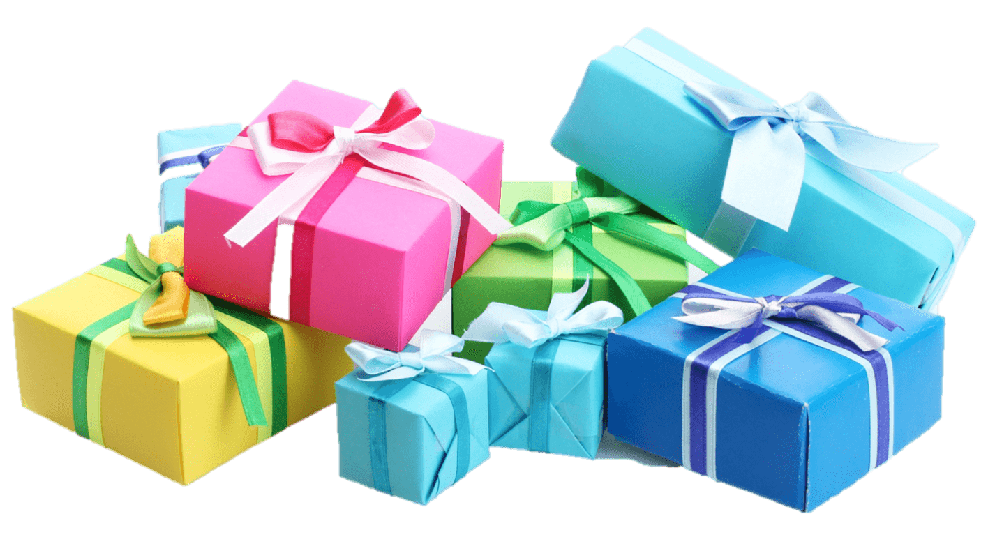 Transparent present gift. Group png stickpng miscellaneous