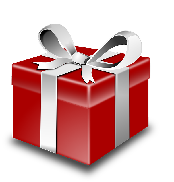 Transparent present wrapped. Collection of free bewrapped