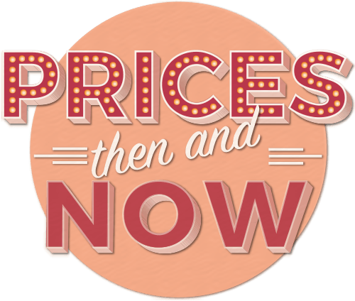 Transparent prices. Then and now png