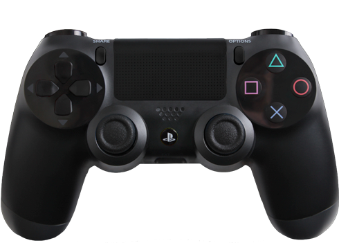 Transparent ps4 background. Ps controller black png