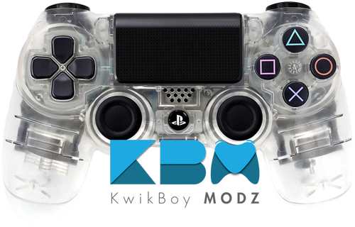 Transparent ps4 clear. Custom ps controller kwikboy
